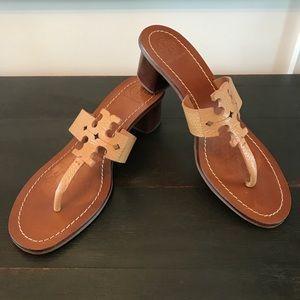 Tory Burch Moore Block Heel Sandal Royal Tan 9